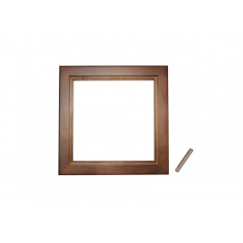 "6""*6"" Photo Frame(Pinewood, two colors available, Dark/light brown) (10/pack)"