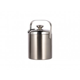 44OZ/1300ml Stainless Steel Ice Bucket Set(Silver) (12/carton)