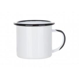 12oz/360ml Inner and Rim Enamel Mug (Black) (48/carton)