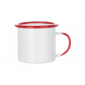 12oz/360ml Inner and Rim Enamel Mug (Red) (48/carton)