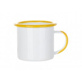 12oz/360ml Inner and Rim Enamel Mug (Yellow) (48/carton)