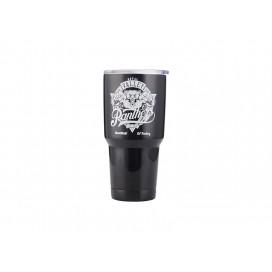 30oz   Stainless Steel Tumbler w/ UV Coating (Black)(10/pack)