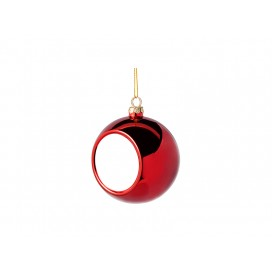 8cm Plastic Christmas Ball Ornament w/ insert (Red) (10/pack)