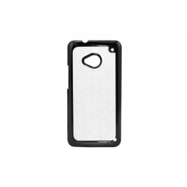 HTC M7 Cover (Plastic,Black) (10/pack)