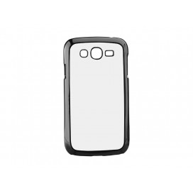 Samsung J3 W/Insert Cover(Plastic,Black) (10/pack)