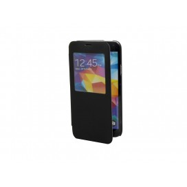 Samsung Galaxy S5 i9600 Foldable Case (Leather, Black) (10/pack)