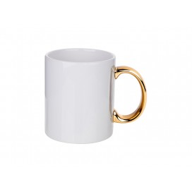 11oz Plated Ceramic Mug (Gold Handle) (36/pack)