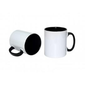 10oz Inner Rim Color Mug(Black) (36/case)