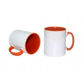 10oz Inner Rim Color Mug(Orange) (36/case)
