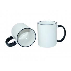 11oz Rim Handle Mug-Black(36/case)