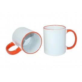 11oz Rim Handle Mug-Orange(36/case)