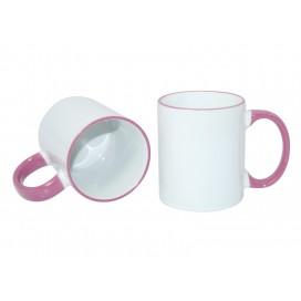 11oz Rim Handle Mug-Pink(36/case)