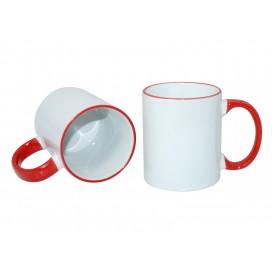 11oz Rim Handle Mug-Red(36/case)