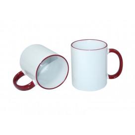 11oz Rim Handle Mug-Maroon (36/case)