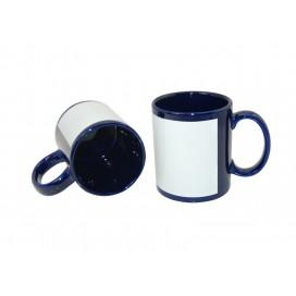 11oz Blue Mug with White Patch (36/case)