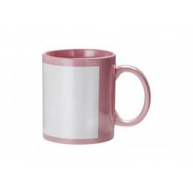 11oz Full Colour Mug w/ White Patch(Pink)(36/pack)