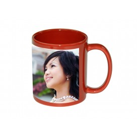 11oz Red Mug with White Patch (36/case)