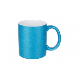 11oz/330ml Glitter Mug (Blue) (36/pack)