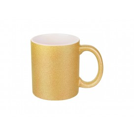 11oz/330ml Glitter Mug (Gold) (36/pack)