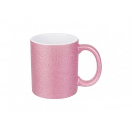 11oz/330ml Glitter Mug (Pink) (36/pack)