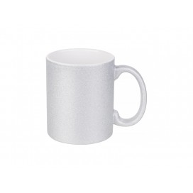 11oz/330ml Glitter Mug (Silver) (36/pack)