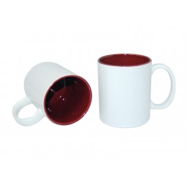 11oz Two-Tone Color Mugs-Maroon(36/case)
