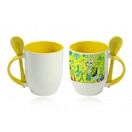 11oz Color Sublimation Spoon Mug-Yellow(36/case)