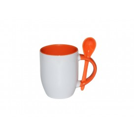 11oz Color Sublimation Spoon Mug-Orange(36/case)