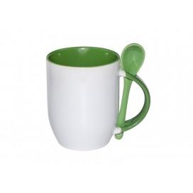 11oz Color Sublimation Spoon Mug-Green(36/case)