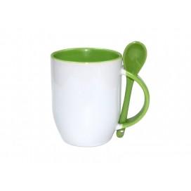 11oz Color Sublimation Spoon Mug-Light Green(36/case)