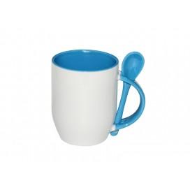11oz Color Sublimation Spoon Mug-Light Blue(36/case)