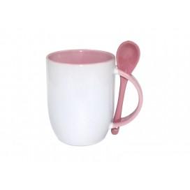 11oz Color Sublimation Spoon Mug-Pink(36/case)