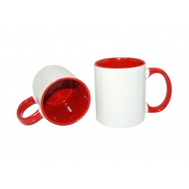 11oz Inner Rim Color Mug-Red(36/case)