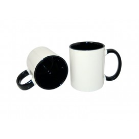 11oz Inner Rim Color Mug-Black(36/case)