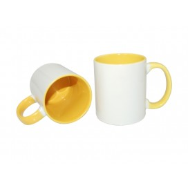 11oz Inner Rim Color Mug-Yellow(36/case)