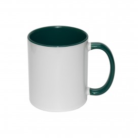 11oz Inner Rim Color Mug-Green(36/case)