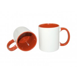 11oz Inner Rim Color Mug-Orange(36/case)