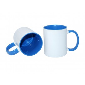 11oz Inner Rim Color Mug-Light Blue(36/case)