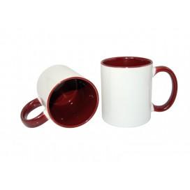11oz Inner Rim Color Mug-Maroon(36/case)