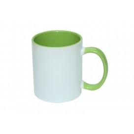 11oz Inner Rim Color Mug-Light Green(36/case)
