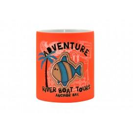 11oz Fluorescent Mug(Frosted, Reddish Orange)(36/case)