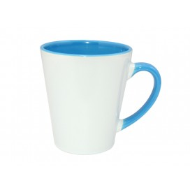 12oz Inner Rim Color Mug-Light Blue(36/case)