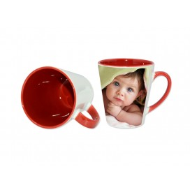 12oz Inner Rim Color Mug-Red(36/case)