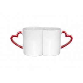 11oz Couple Mugs w/ Red Heart Handle (18/carton)