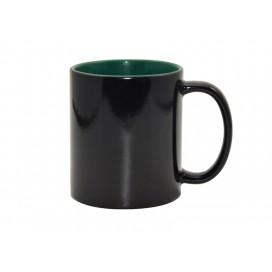 11oz Black Color Changing mug (Inner Green)(48/pack)