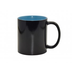 11oz Black Color Changing mug (Inner Light Blue)(48/pack)