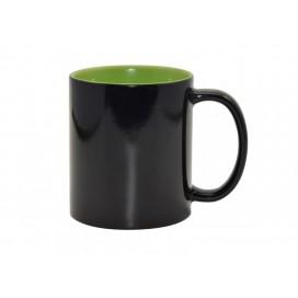 11oz Black Color Changing mug (Inner Light Green)(48/pack)