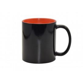 11oz Black Color Changing mug (Inner Orange)(48/pack)