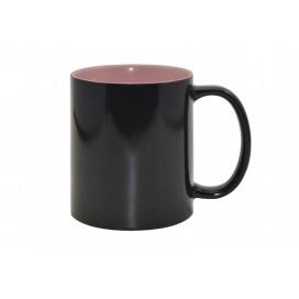11oz Black Color Changing mug (Inner Pink)(48/pack)