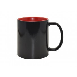11oz Black Color Changing mug (Inner Red)(48/pack)
